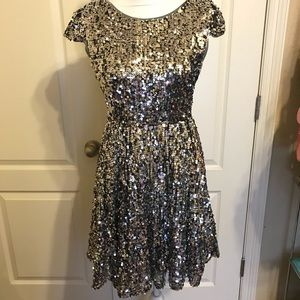 Dresses & Skirts - ✨ Stunning Silver Sequined Party Dress ✨